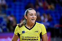 Pulse' Tiana Metuarau during the ANZ Premiership - Pulse v Stars at Te Rauparaha Arena, Porirua, New Zealand on Wednesday 3 April 2019. <br /> Photo by Masanori Udagawa. <br /> www.photowellington.photoshelter.com