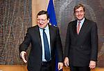 Brussels-Belgium - January 27, 2014 -- José (Jose) Manuel DURAO BARROSO (le), President of the European Commission, receives Ingo KRAMER (ri), President of the Confederation of German Employers' Associations (BDA, Bundesvereinigung der Deutschen Arbeitgeberverbände) -- Photo: © HorstWagner.eu