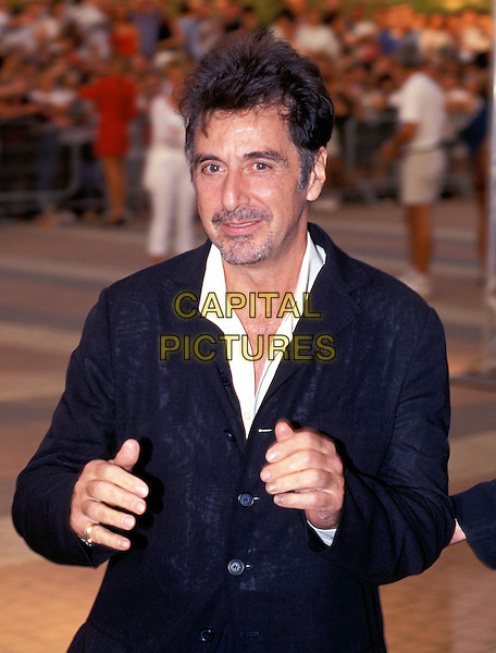 "AL PACINO.""Deauville Film Festival"" 1999.Ref: 8804.half length, arms out, beckoning, black suit, white shirt.sales@capitalpictures.com.www.capitalpictures.com.©Capital Pictures"