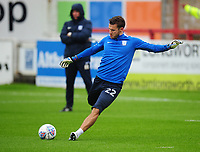 Preston North End's Chris Maxwell during the pre-match warm-up <br /> <br /> Photographer Kevin Barnes/CameraSport<br /> <br /> The Carabao Cup - Accrington Stanley v Preston North End - Tuesday 8th August 2017 - Crown Ground - Accrington<br />  <br /> World Copyright &copy; 2017 CameraSport. All rights reserved. 43 Linden Ave. Countesthorpe. Leicester. England. LE8 5PG - Tel: +44 (0) 116 277 4147 - admin@camerasport.com - www.camerasport.com