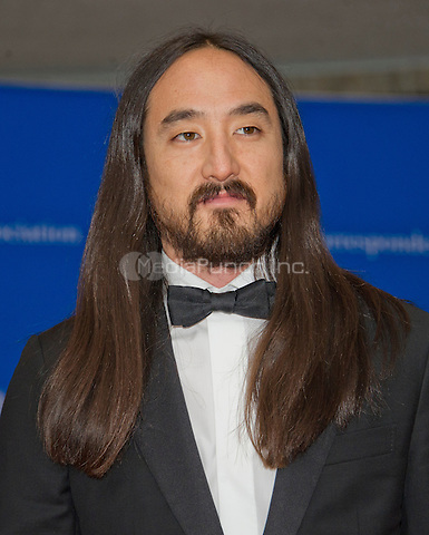 Musician Steve Aoki arrives for the 2016 White House Correspondents Association Annual Dinner at the Washington Hilton Hotel on Saturday, April 30, 2016.<br /> Credit: Ron Sachs / CNP<br /> (RESTRICTION: NO New York or New Jersey Newspapers or newspapers within a 75 mile radius of New York City)/MediaPunch