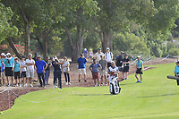 Matt Wallace (ENG) on the 15th fairway during the 2nd round of the DP World Tour Championship, Jumeirah Golf Estates, Dubai, United Arab Emirates. 16/11/2018<br /> Picture: Golffile | Fran Caffrey<br /> <br /> <br /> All photo usage must carry mandatory copyright credit (© Golffile | Fran Caffrey)