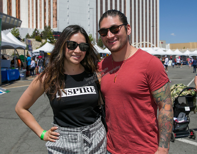 Sofia and Chris during the Cinco de Mayo Festival at the Grand Sierra Resort in Reno on Saturday, May 4, 2019.