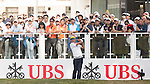 Rafael Cabrera Bello of Spain tees off the first hole during the 58th UBS Hong Kong Golf Open as part of the European Tour on 11 December 2016, at the Hong Kong Golf Club, Fanling, Hong Kong, China. Photo by Vivek Prakash / Power Sport Images