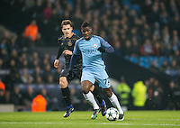 Kelechi Iheanacho of Manchester City during the UEFA Champions League GROUP match between Manchester City and Celtic at the Etihad Stadium, Manchester, England on 6 December 2016. Photo by Andy Rowland.