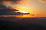 Sunrise over Backbone ridge and the proposed Grandfather National Scenic Area, Blue Ridge Parkway