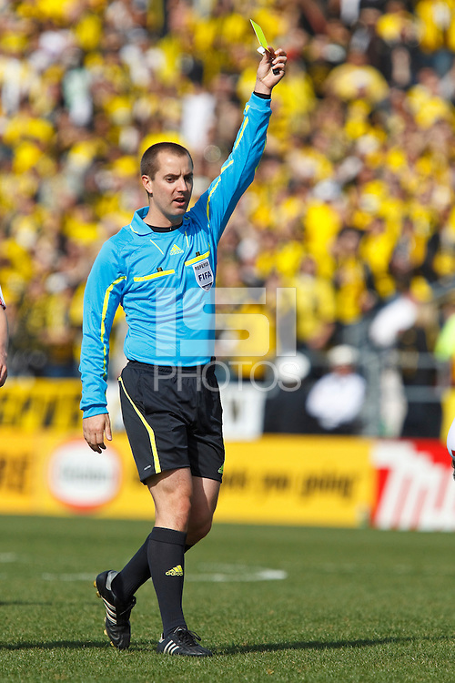 27 MARCH 2010:  Referee Mark Geigerduring the Toronto FC at Columbus Crew MLS game in Columbus, Ohio on March 27, 2010.