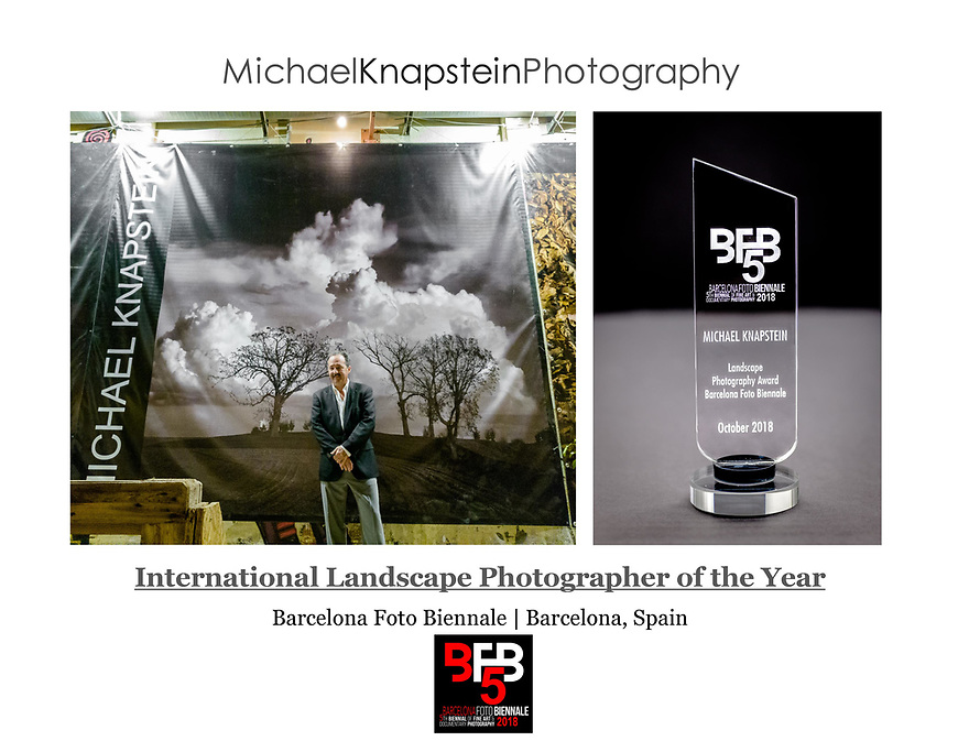 Michael Knapstein was named the International Landscape Photographer of the Year at the Barcelona Foto Biennale on October 4, 2018.