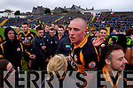 Kieran Donaghy Austin Stacks players celebrate winning the Kerry Senior County Football Final at Fitzgerald Stadium on Sunday.