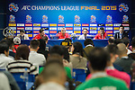 Al Ahli team formers attends their press conference ahead their AFC Champions League Final Match 2nd Leg against Guangzhou Evergrande at the Tianhe Sport Center on 20 November 2015 in Guangzhou, China. Photo by Victor Fraile / Power Sport Images