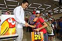 Yuki Ota, AUGUST 2, 2011 - Fencing : Factory tour for children in Tohoku-Kanto Natural Disaster affected areas at Morinaga Tsurumi Factory, Kanagawa, Japan. (Photo by YUTAKA/AFLO SPORT) [1040]