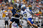 FOXBORO, MA - MAY 28: Colton Waktinson #17 of the Limestone Saints during the Division II Men's Lacrosse Championship held at Gillette Stadium on May 28, 2017 in Foxboro, Massachusetts. (Photo by Larry French/NCAA Photos via Getty Images)