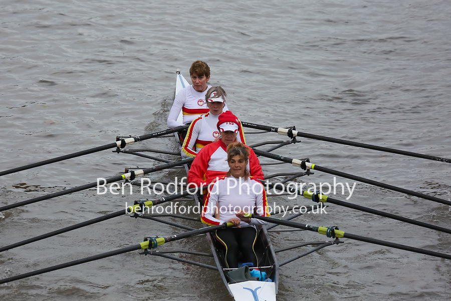 Crew: 205  Tideway Scullers School   WE 4x<br /> <br /> Veteran Fours Head 2018<br /> <br /> To purchase this photo, or to see pricing information for Prints and Downloads, click the blue 'Add to Cart' button at the top-right of the page.