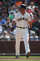 SAN FRANCISCO, CA - SEPTEMBER 2:  Chris Shaw #26 of the San Francisco Giants bats against the New York Mets during the game at AT&T Park on Sunday, September 2, 2018 in San Francisco, California. (Photo by Brad Mangin)