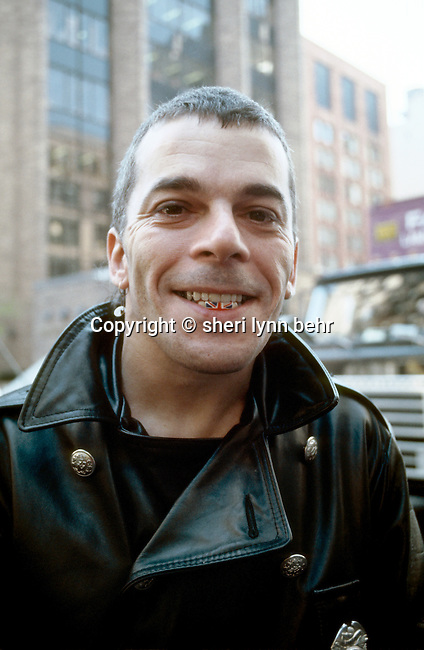 Ian Dury before in-store record signing in May 1978, NYC