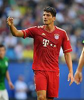 FUSSBALL   1. BUNDESLIGA   SAISON 2012/2013   LIGA TOTAL CUP  FC Bayern Muenchen - SV Werder Bremen       04.08.2012 Mario Gomez (FC Bayern Muenchen)