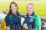 John O'Connor and Eileen O'Connor, pictured at the senior Hurling replay Kilmoyley v Ballyduff, held in Austin Stack Park, Tralee on Saturday evening last.