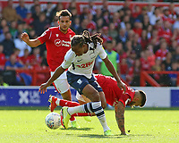 Preston North End's Daniel Johnson is tackled by Nottingham Forest's Tiago Silva<br /> <br /> Photographer David Shipman/CameraSport<br /> <br /> The EFL Sky Bet Championship - Nottingham Forest v Preston North End - Saturday 31st August 2019 - The City Ground - Nottingham<br /> <br /> World Copyright © 2019 CameraSport. All rights reserved. 43 Linden Ave. Countesthorpe. Leicester. England. LE8 5PG - Tel: +44 (0) 116 277 4147 - admin@camerasport.com - www.camerasport.com