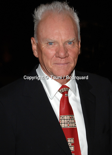 Malcolm McDowell arriving at the Jules Verne Adventure Film Festival &amp; Expositions at the Shrine Auditorium In Los Angeles.<br /> <br /> headshot<br /> eye contact