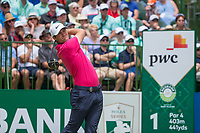 Lucas Bjerregaard (DEN) on the first tee during the first round at the Nedbank Golf Challenge hosted by Gary Player,  Gary Player country Club, Sun City, Rustenburg, South Africa. 08/11/2018 <br /> Picture: Golffile | Tyrone Winfield<br /> <br /> <br /> All photo usage must carry mandatory copyright credit (&copy; Golffile | Tyrone Winfield)