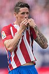 Fernando Torres of Atletico de Madrid celebrates his goal with his teammates  during their La Liga match between Atletico de Madrid vs Athletic de Bilbao at the Estadio Vicente Calderon on 21 May 2017 in Madrid, Spain. Photo by Diego Gonzalez Souto / Power Sport Images