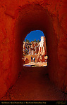 Arch Vignette with Hikers, Queen's Garden Trail, Bryce Canyon National Park, Utah