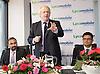 Boris Johnson <br /> Mayor of London <br /> visits Lycamobile Global HQ in Docklands, London, Great Britain <br /> 21st July 2011 <br /> <br /> <br /> Subaskaram Allirajah (Group Chairman)<br /> <br /> Boris Johnson <br /> London Mayor<br /> <br /> Milind Kangle (Group CEO)<br /> <br /> <br /> Photograph by Elliott Franks