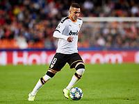 5th November 2019; Mestalla, Valencia, Spain; UEFA Champions League Football,Valencia versus Lille; Rodrigo Moreno of Valencia CF brings the ball forward - Editorial Use