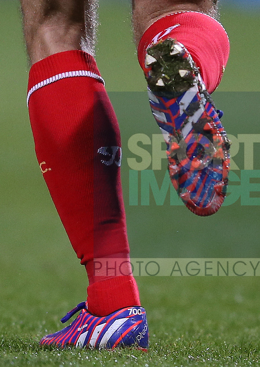Steven Gerrard's  special boot to mark his 700th appearance as a Liverpool player - FA Cup Fourth Round replay - Bolton Wanderers vs Liverpool - Macron Stadium  - Bolton - England - 4th February 2015 - Picture Simon Bellis/Sportimage