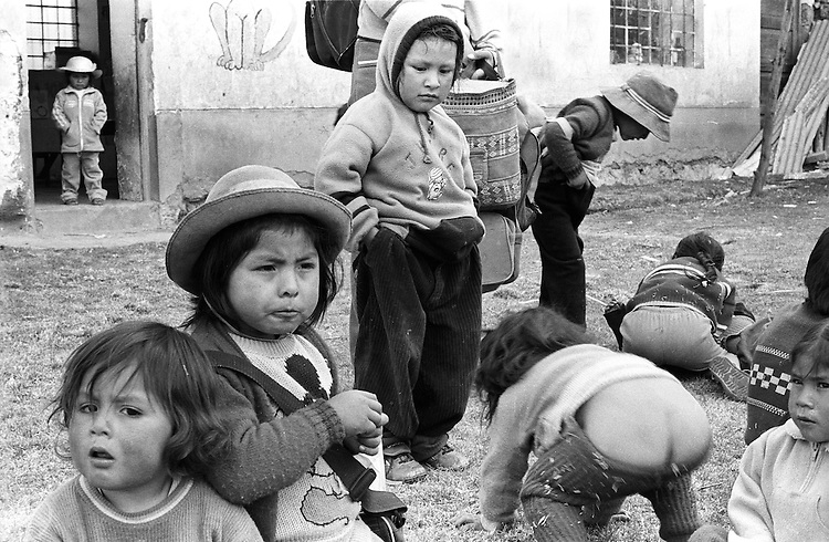 Driving through villages a few miles from Cuzco, we stoppped at kindergarten. It was remarkable to see the teachers going from home to home to collect children and bring them to school.
