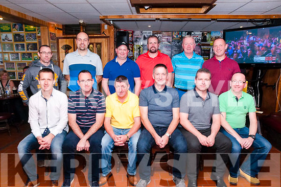 Mike the Pies Golf Society: Pictured at the end of year prize giving & charity night at Mike the Pies Bat, Listowel  on Saturday night last were in front Keith Browne, Tom O'Connor, Brendan Kelliher, Kevin Enright, John O'Connor & Tommy Canavan. Back : Declan Murphy, Mike Collins, John McGlynn, Brian Leahy, Des O'Donnell & Jimmy Dore