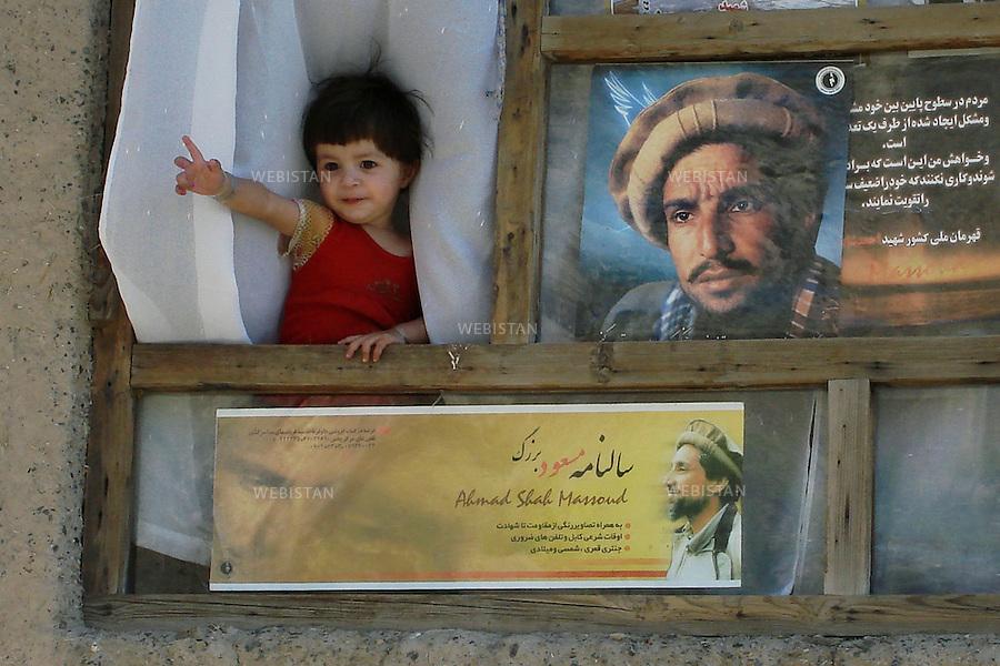 AFGHANISTAN, PANJSHIR PROVINCE,  PANJSHIR VALLEY, BAZARAK - 10/09/2007. Commemoration for Commander Ahmad Shah Massoud's assassination. <br /> <br /> AFGHANISTAN, PROVINCE DU PANJSHIR, VALLE DU PANJSHIR, TOMBEAU DU COMMANDANT AHMAD SHAH MASSOUD - 10/09/2007.Commemorations pour l'assassinat du Commandant Ahmad Shah Massoud.