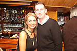 Gwen Holcroft and Karl Morrisey at Michael Hussey's surprise 60th in the Market Bar...(Photo credit should read Jenny Matthews www.newsfile.ie)....This Picture has been sent you under the condtions enclosed by:.Newsfile Ltd..The Studio,.Millmount Abbey,.Drogheda,.Co Meath..Ireland..Tel: +353(0)41-9871240.Fax: +353(0)41-9871260.GSM: +353(0)86-2500958.email: pictures@newsfile.ie.www.newsfile.ie.