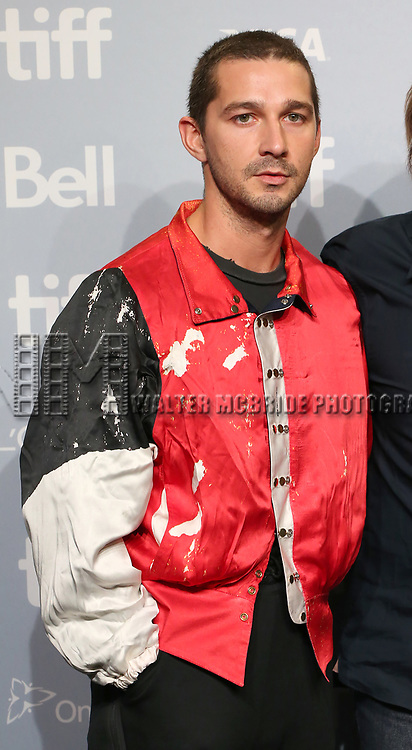 Shia LaBeouf attends the 'Borg/McEnroe' press conference during the 2017 Toronto International Film Festival at TIFF Bell Lightbox on September 7, 2017 in Toronto, Canada.