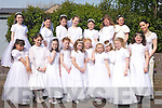 Pupils from Miss Foley's class at Scoil Chroi? an Naofa, Presentation Primary, Tralee who made their First Holy Communion Saturday. Front l-r: Andreea Gergely, Caitri?ona Lefe?ve?re-Laoide, Michelle Doody, Kate Maher, Angela Marie Dineen, Niamh Hurley, Allanna Collins, Jasmina Gheorghe, Zara-Lee O'Shea, Sinead Maher and Ms Noreen Foley. Back l-r: Nicole McHugh, Isabella Flamini, Jennifer Hanafin, Jadyn Lucey, Shannon Diggins, Niamh O'Shea and Louise Crowley.