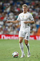 Real Madrid´s Kroos during Santiago Bernabeu Trophy match at Santiago Bernabeu stadium in Madrid, Spain. August 18, 2015. (ALTERPHOTOS/Victor Blanco)