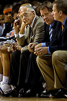 Charlotte Bobcats coach Larry Brown watches his team play thte Orlando Magic during an NBA basketball game  at Time Warner Cable Arena in Charlotte, NC.