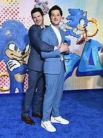 "12 February 2020 - Los Angeles, California - Jeff Fowler, Ben Schwartz. ""Sonic the Hedgehog"" Los Angeles Premiere held at the Regency Village Theater. Photo Credit: Birdie Thompson/AdMedia"