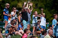 Kansas City, MO - Wednesday August 16, 2017: fan, fans, FC Kansas City  during a regular season National Women's Soccer League (NWSL) match between FC Kansas City and the Orlando Pride at Children's Mercy Victory Field.