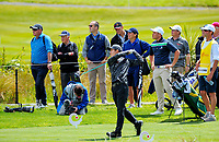 Sean Maruyama (Japan) tees off at the 5th on day one of the 2017 Asia-Pacific Amateur Championship day one at Royal Wellington Golf Club in Wellington, New Zealand on Thursday, 26 October 2017. Photo: Dave Lintott / lintottphoto.co.nz