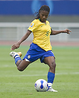 Brazil forward (8) Formiga. Brazil (BRA) defeated New Zealand (NZL) 5-0 in their  FIFA Women's World Cup China 2007 Group D opening round match at Wuhan Sports Center Stadium in Wuhan, China on September 12, 2007.