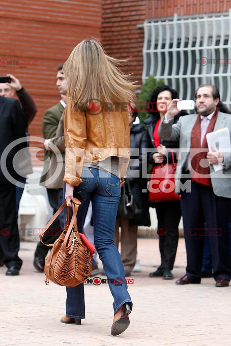 Princess Letizia of Spain visit King Juan Carlos of Spain at La Milagrosa Hospital in Madrid, Spain. March 03, 2013. (ALTERPHOTOS/Caro Marin) /NortePhoto