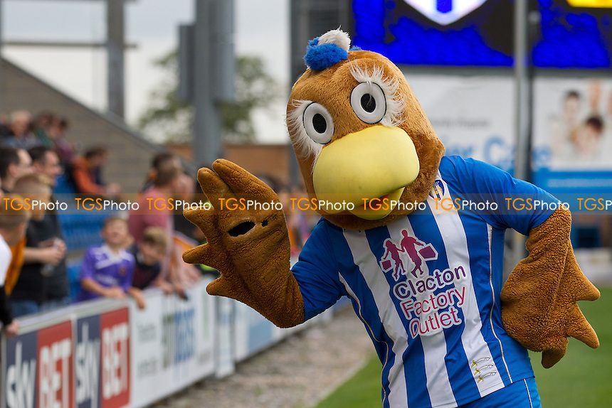 Eddie the Eagle poses  - Colchester United vs Wolverhampton Wanderers - Sky Bet League One Football at the Weston Homes Community Stadium, Colchester, Essex - 05/10/13 - MANDATORY CREDIT: Ray Lawrence/TGSPHOTO - Self billing applies where appropriate - 0845 094 6026 - contact@tgsphoto.co.uk - NO UNPAID USE