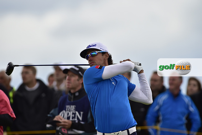 Rafa CABRERA-BELLO (ESP) tees off the 13th tee during Friday's Round 2 of the 144th Open Championship, St Andrews Old Course, St Andrews, Fife, Scotland. 17/07/2015.<br /> Picture Eoin Clarke, www.golffile.ie