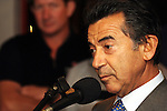 DURBAN - 23 May 2007 - Captain Salvatore Sarno, the vision behind South Africa's entry into the America's Cup speaks at Durban's Point Yacht Club. Sarno, a the CEO of the Mediterranean Shipping Company in South Africa was speaking at a cocktail party held to welcome home the Durban cremembers of Shosholoza..Picture: Giordano Stolley/Allied Picture Press