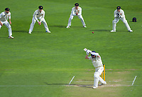 Otago's Camden Hawkins leaves a Hamish Bennett delivery during day two of the Plunket Shield cricket match between the Wellington Firebirds and Otago Volts at the Basin Reserve in Wellington, New Zealand on Tuesday, 22 October 2019. Photo: Dave Lintott / lintottphoto.co.nz