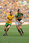 David Moran with the ball in the All-Ireland Football Final against Donegal in Croke Park 2014.<br /> Photo: Don MacMonagle<br /> <br /> <br /> Photo: Don MacMonagle <br /> e: info@macmonagle.com