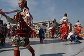 Kiev, Ukraine.August 24, 2005 ..Traditional performers at Maidan Square to celebrate Independence Day in Kiev, Ukraine. President Victor Yushchinko arrives later at the event. ..