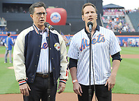JUN 08 Steven Colbert and Patrick Wilson Perform National Anthem in Citi Field