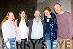 Ellen, Jane and Mike Sheehan Fossa with Danny and Maire Heay Rae at the play The Rise on the Healy Raes in the Ivyleaf theater Castleisland on Saturday night